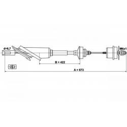 Koppelingskabel NOS 2150q2 Saxo
